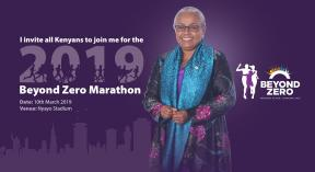 Ruto, First Lady Margaret Kenyatta in Beyond Zero Half Marathon 2019 in Nyayo Stadium
