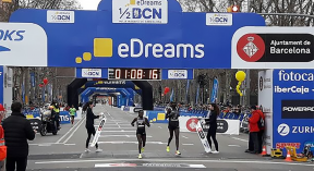 kiplagat achieves fourth consequetive barcelona half marathon triumph